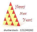 bstract christmas fir tree ... | Shutterstock . vector #121240282
