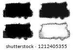 set of brush stroke and... | Shutterstock . vector #1212405355