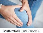 physical injury of leg   knee   ... | Shutterstock . vector #1212409918