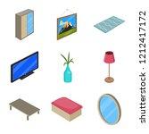 vector design of bedroom and... | Shutterstock .eps vector #1212417172