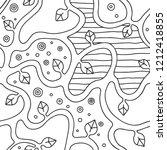 seamless vector black and white ... | Shutterstock .eps vector #1212418855