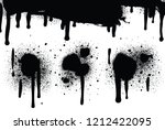 spray paint abstract vector... | Shutterstock .eps vector #1212422095