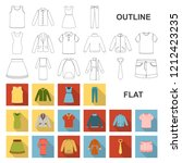 different kinds of clothes flat ... | Shutterstock .eps vector #1212423235