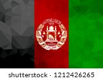 afghanistan polygonal flag.... | Shutterstock . vector #1212426265