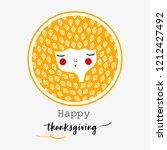 happy thanksgiving ...   Shutterstock .eps vector #1212427492