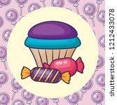 sweet cupcake design | Shutterstock .eps vector #1212433078