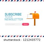 email subscribe  online...   Shutterstock .eps vector #1212435772