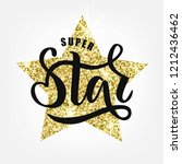 super star text for clothes.... | Shutterstock .eps vector #1212436462