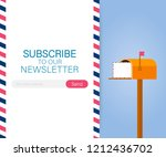 email subscribe  online...   Shutterstock .eps vector #1212436702
