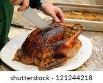 Carving Christmas Turkey