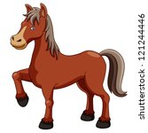 Stock vector illustration of a horse 121244446