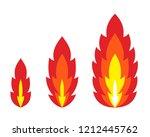 flame  blazing fire. vector... | Shutterstock .eps vector #1212445762