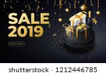 new year 2019 sale place for...   Shutterstock .eps vector #1212446785