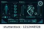 hud interface vector heart... | Shutterstock .eps vector #1212448528
