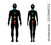 chakras on the body.... | Shutterstock .eps vector #1212449212