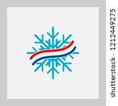 snowflake  logo  climate ... | Shutterstock .eps vector #1212449275