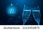 happy 2019 new year greeting... | Shutterstock .eps vector #1212452875