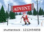 3d Illustration Santa Claus On...