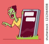 Zombie Behind A Smartphone...