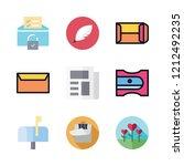 letter icon set. vector set... | Shutterstock .eps vector #1212492235