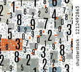 numbers shapes seamless pattern ...   Shutterstock .eps vector #1212492865
