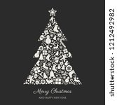 christmas background with... | Shutterstock .eps vector #1212492982