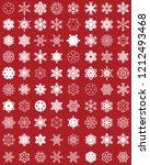 set of different white... | Shutterstock .eps vector #1212493468