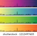 utrecht multiple color gradient ... | Shutterstock .eps vector #1212497605