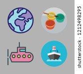 ocean icon set. vector set... | Shutterstock .eps vector #1212498295