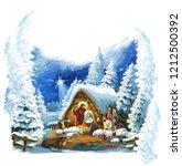 traditional christmas scene... | Shutterstock . vector #1212500392