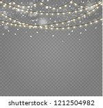 christmas lights isolated... | Shutterstock .eps vector #1212504982