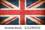 grunge dirty uk flag   eps10... | Shutterstock .eps vector #121250542