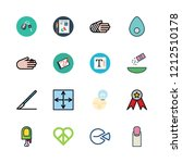 hand icon set. vector set about ... | Shutterstock .eps vector #1212510178