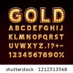 Golden Font Lamp Symbol  Gold...