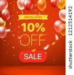 special offer concept. 10... | Shutterstock .eps vector #1212514192