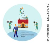 home repairs. home improvement... | Shutterstock .eps vector #1212524752