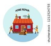 home repairs. home improvement... | Shutterstock .eps vector #1212524755