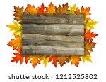empty wooden autumn background  ...   Shutterstock . vector #1212525802