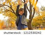 happy boy have fun in the... | Shutterstock . vector #1212530242