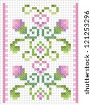 embroidery cross stitch on... | Shutterstock .eps vector #121253296