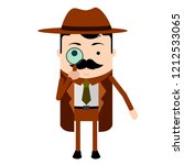 isolated cute detective cartoon ... | Shutterstock .eps vector #1212533065