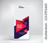 roll up banner design ... | Shutterstock .eps vector #1212551665