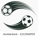 soccer football moving swoosh...   Shutterstock .eps vector #1212560935