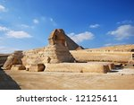 sphinx and pyramids   tombs of... | Shutterstock . vector #12125611