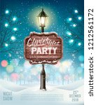 merry christmas party flyer... | Shutterstock .eps vector #1212561172