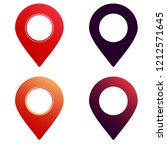 location pin icon set  map...
