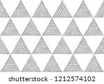 seamless ethnic hand drawn gray ... | Shutterstock .eps vector #1212574102