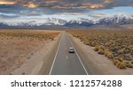 aerial  large suv drives down... | Shutterstock . vector #1212574288