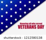 veterans day 11th of november.... | Shutterstock .eps vector #1212580138