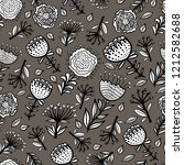 vector floral kids seamless... | Shutterstock .eps vector #1212582688